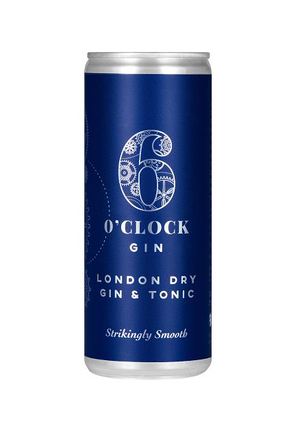 6 O'Clock London Dry Gin & Tonic