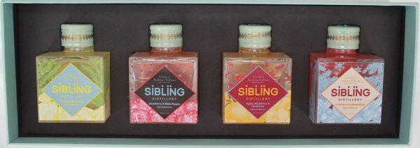 Sibling Distillery Triple Distilled Gin - 4 x Miniature Gift Box