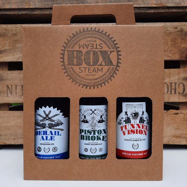 Box Steam Brewery 3 bottle gift box