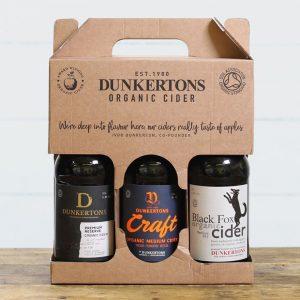 Dunkertons Organic Cider 3 Bottle Gift Box