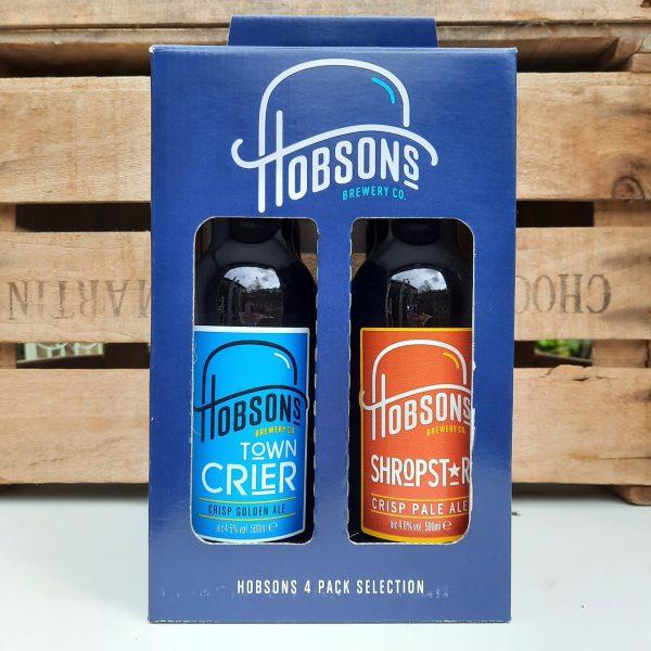 Hobsons 4 bottle gift box back