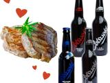 Valentine's Day Meal : 4 Bottles of Craft Lager + 2 Fillet Steaks
