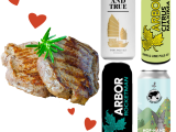 Valentine's Day Meal : 4 Cans of Great British Craft Beer + 2 Fillet Steaks