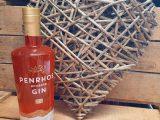 Penrhos Spirits Rhubarb Gin & Wicker Heart Gift Set