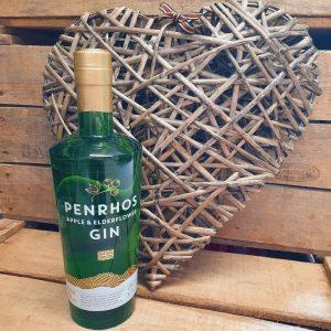 Penrhos Apple and Elderflower Gin and Wicker Heart