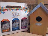 Two Birds Spirits Trio of Gin Gift Box & Bird House Gift Set