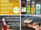 BBQ Box – Beer, Bangers, Burgers & 2 Lip smackin' sauces
